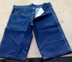 Bermuda Jeans Modelo Básico Masculina