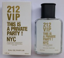 Perfume 212 Vip feminino Traduções de Grife 100 ml