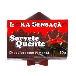 Vela Sorvete Quente Loka Sensação 30g  Sabor Chocolate com pimenta